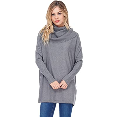 Alexander + David A+D Womens Casual Oversized Cowl Pullover Sweater W Rib Sleeves