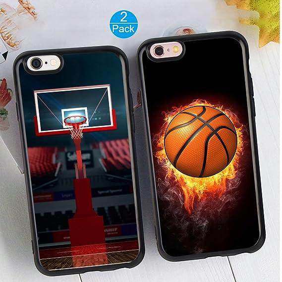 Amazon Com Iphone 6 6s Plus Couple Case Unique Fashion Basketball