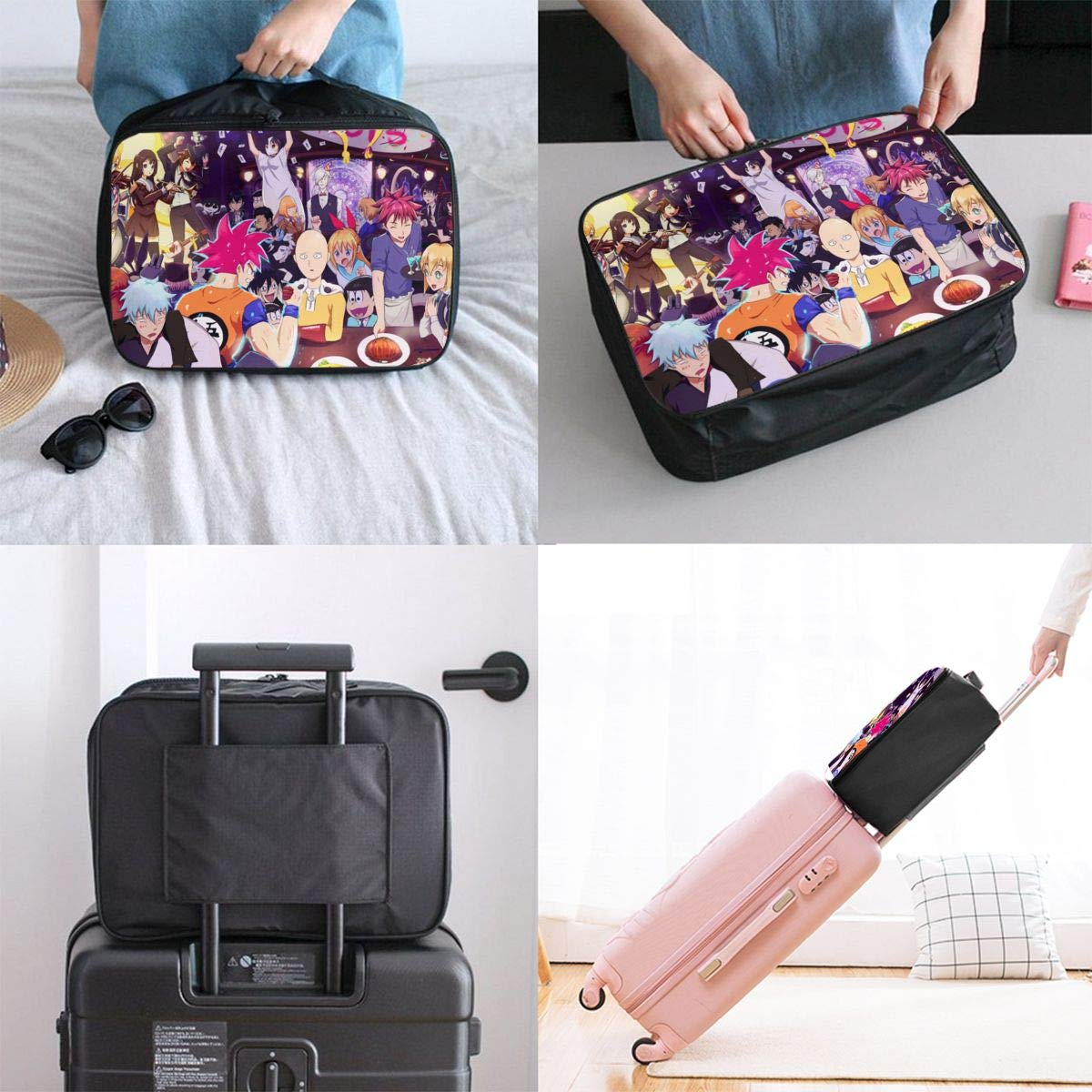 Japanese Anime Classics Collection On-e Pu-nch M-an Customize Casual Portable Travel Bag Suitcase Storage Bag Luggage Packing Tote Bag Trolley Bag