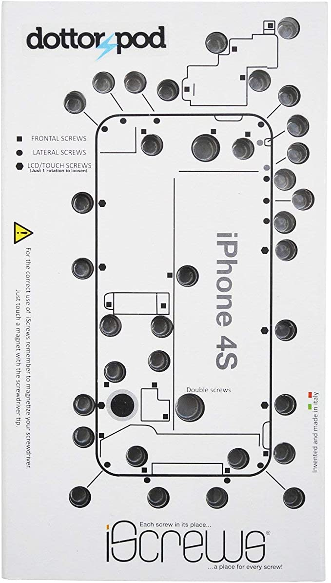 BisLinks® Guía de tornillo organizador de reparación hoja de bandeja alfombrilla Para iPhone 4S