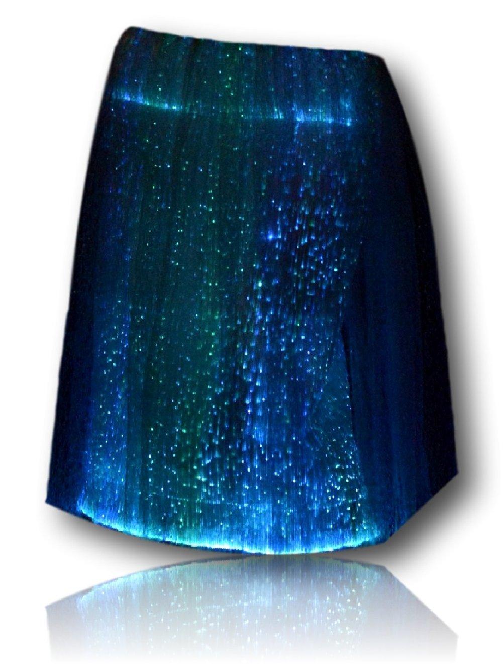 TrYptiX Womens Fiber Optic Light up Skirt X-large