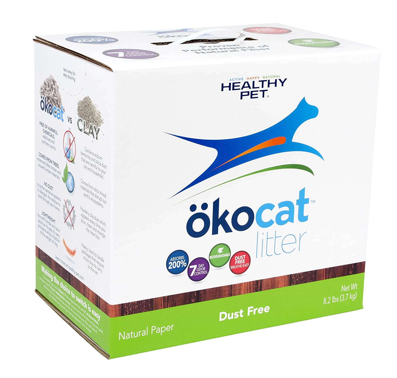 ökocat Natural Paper Cat Litter, Dust Free