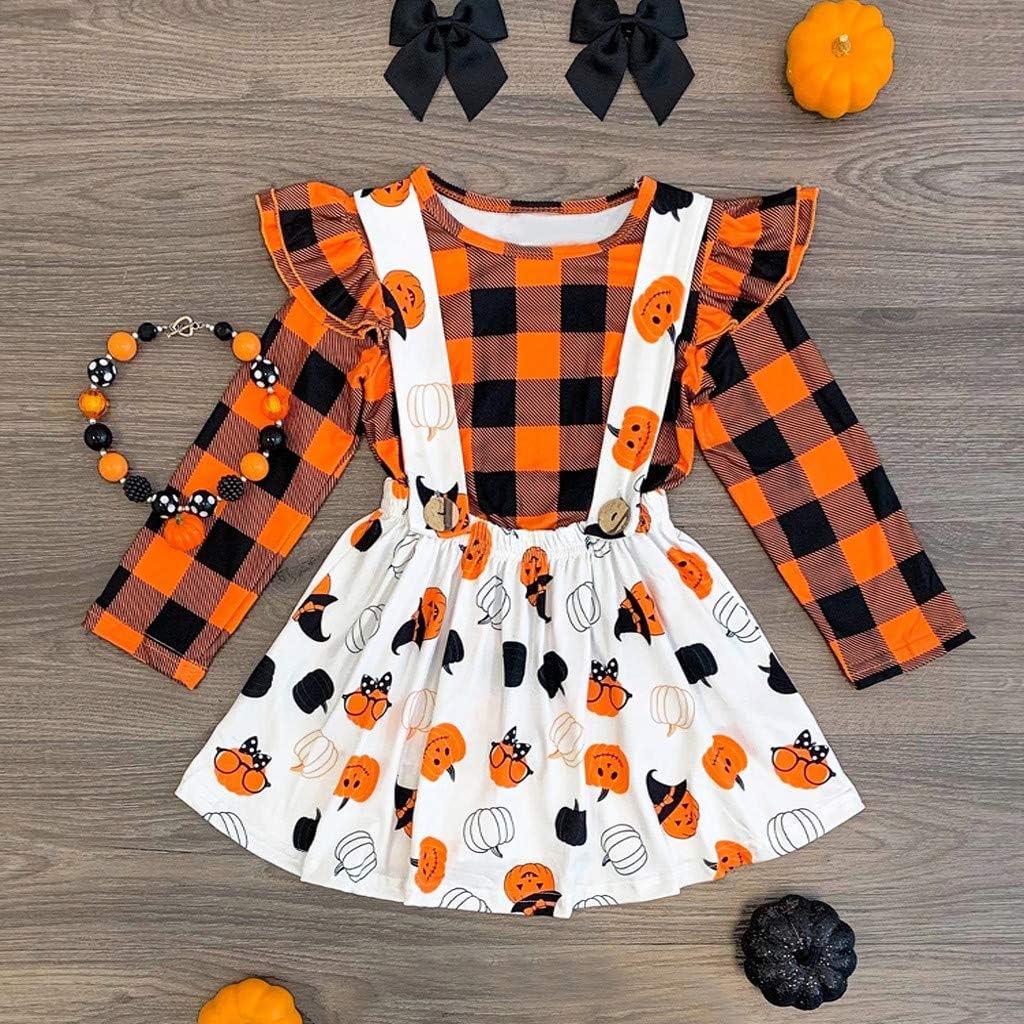 Kingspinner Baby Girls Summer Cute Cartoon Cow Print T-Shirt+Leopard Print Suspender Skirt Overall Outfits Set