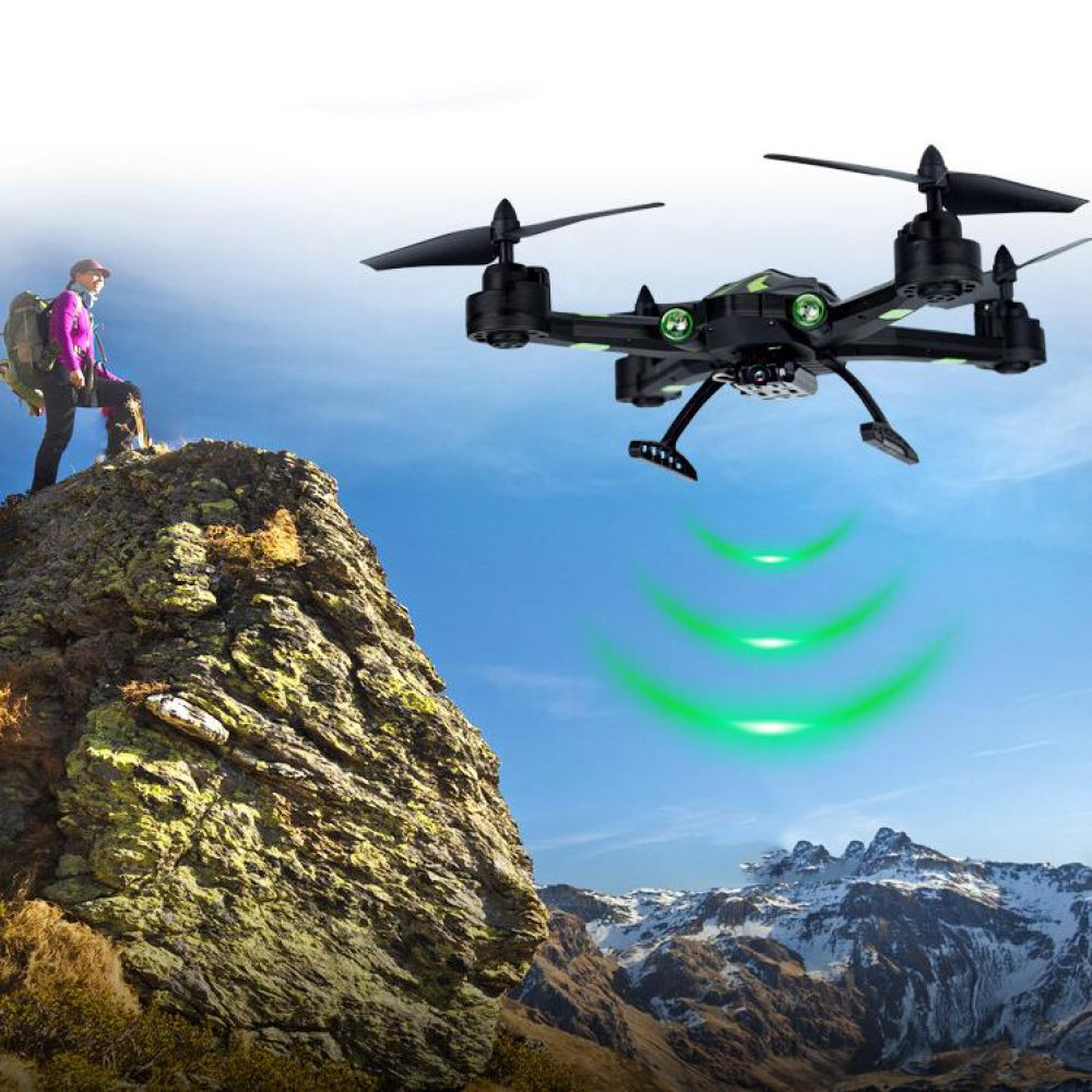 ZCXCC Drohne 2MP Sprachsteuerung Weitwinkel Weitwinkel Weitwinkel Selfie HD Live Kamera 2.4G RC Quadcopter Wifi Drone Höhe Halten Headless Modus 3D Flips Rollen 4-Achsen Gyro Gravitationssensor caea3f