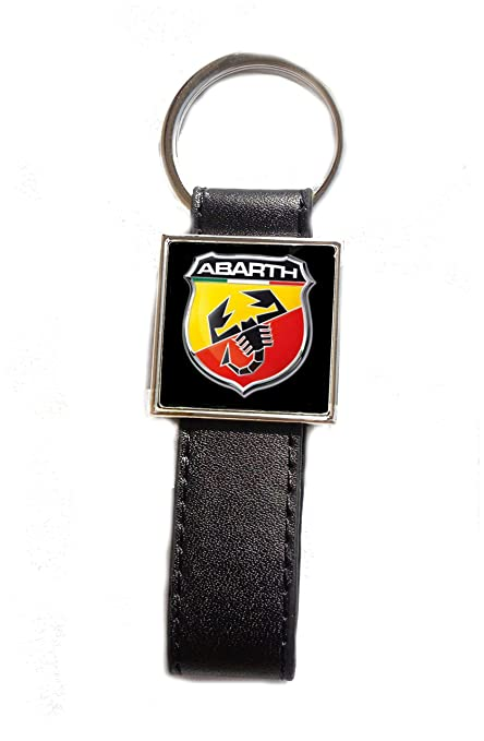 Llavero Acero/Piel sintética Logo Abarth: Amazon.es: Equipaje