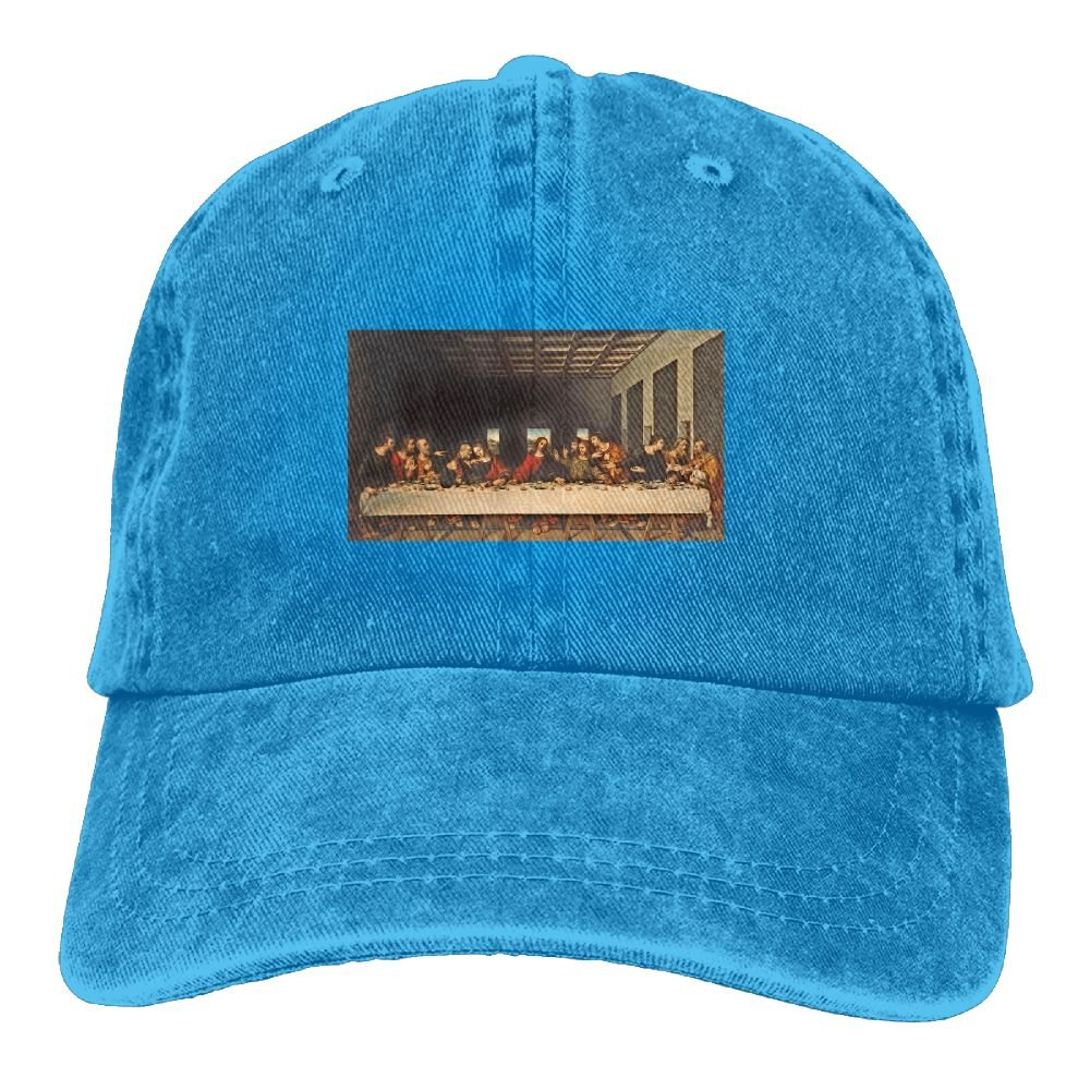 Trableade Painting The Last Supper Pattern Pattern Adult Sport Adjustable Structured Baseball Cowboy Hat