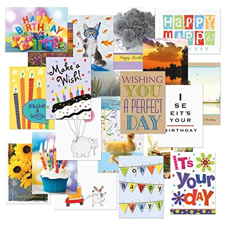 Amazon mega birthday greeting cards value pack set of 40 20 mega birthday greeting cards value pack set of 40 20 designs large m4hsunfo
