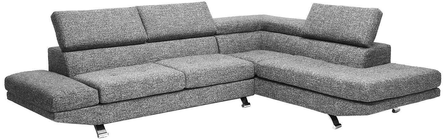 Amazon.com: Baxton Studio Adelaide Twill Fabric Modern Sectional Sofa,  Gray: Kitchen U0026 Dining