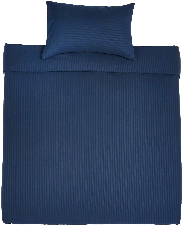 AmazonBasics - Juego de ropa de cama con funda nórdica de microfibra y 1 funda de almohada - 135 x 200 cm, azul marino: Amazon.es: Hogar