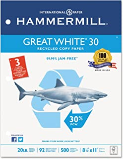 product image for HAM86702 - Hammermill Great White Recycled Copy 3-Hole Punched