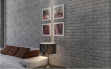 PE Schaum 3D Wandpaneele Selbstklebend, 3D Ziegel Tapete, Brick ...