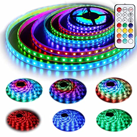 12V RGB LED Strip Lights Kit, Geekeep Addressable Dream Color LED Lighting  with Chasing Effect,Waterproof Neonpixel Led Flexible Tape Light with RF