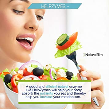 NaturalSlim Superior Digestive Enzymes with HLC Acid and Pancreatin Formulated by Award Winning Weight Loss and Metabolism Specialist- Powerful and ...