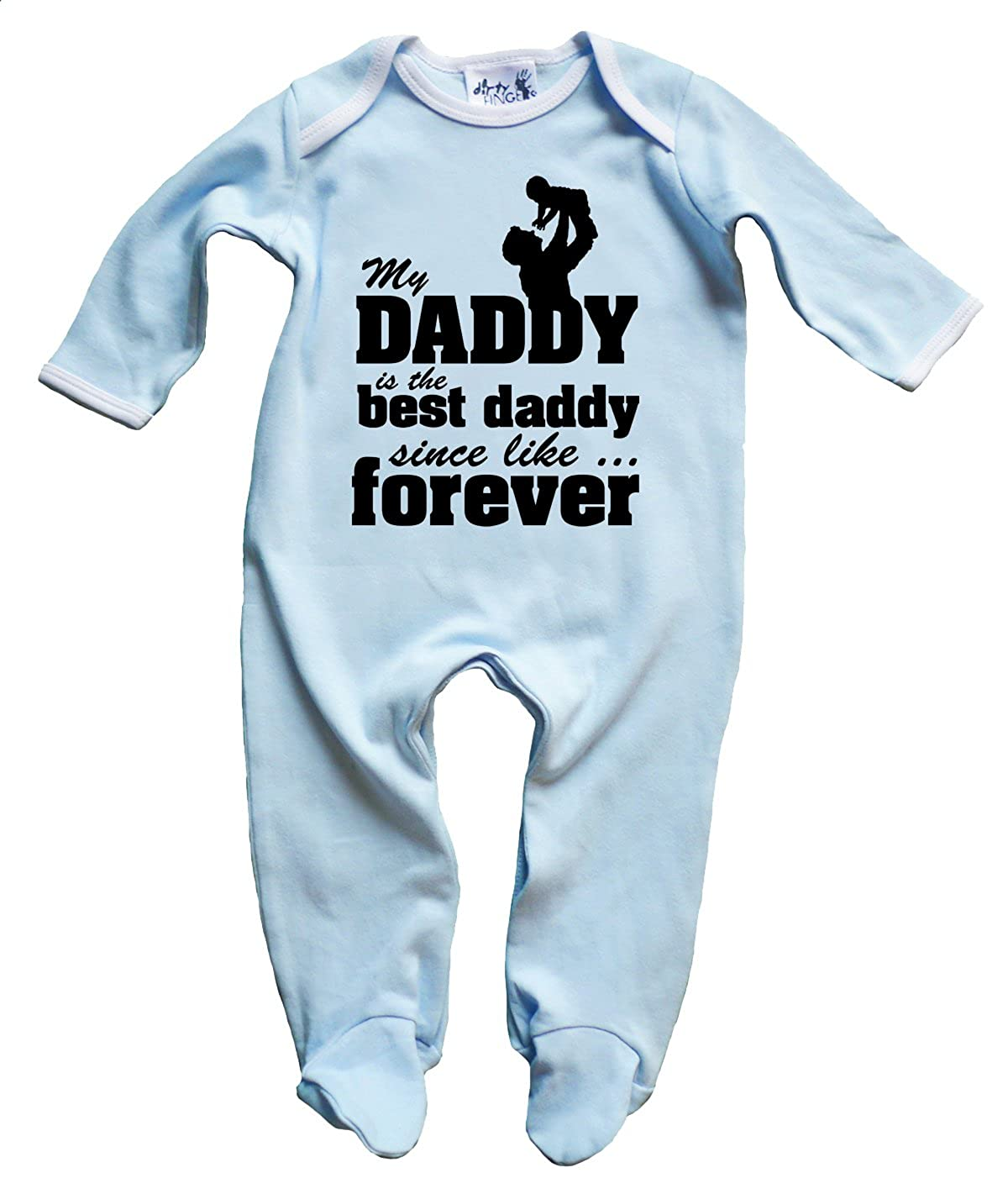 Dirty Fingers, My Daddy is the best Daddy, Father's Day Baby Boy Sleepsuit