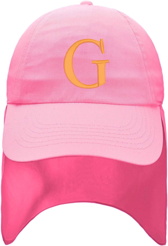 Romens Ltd Junior Pink Girl Legionnaire Hat Girls Kids Baseball Baby Cap Sun Protection Gold Letters