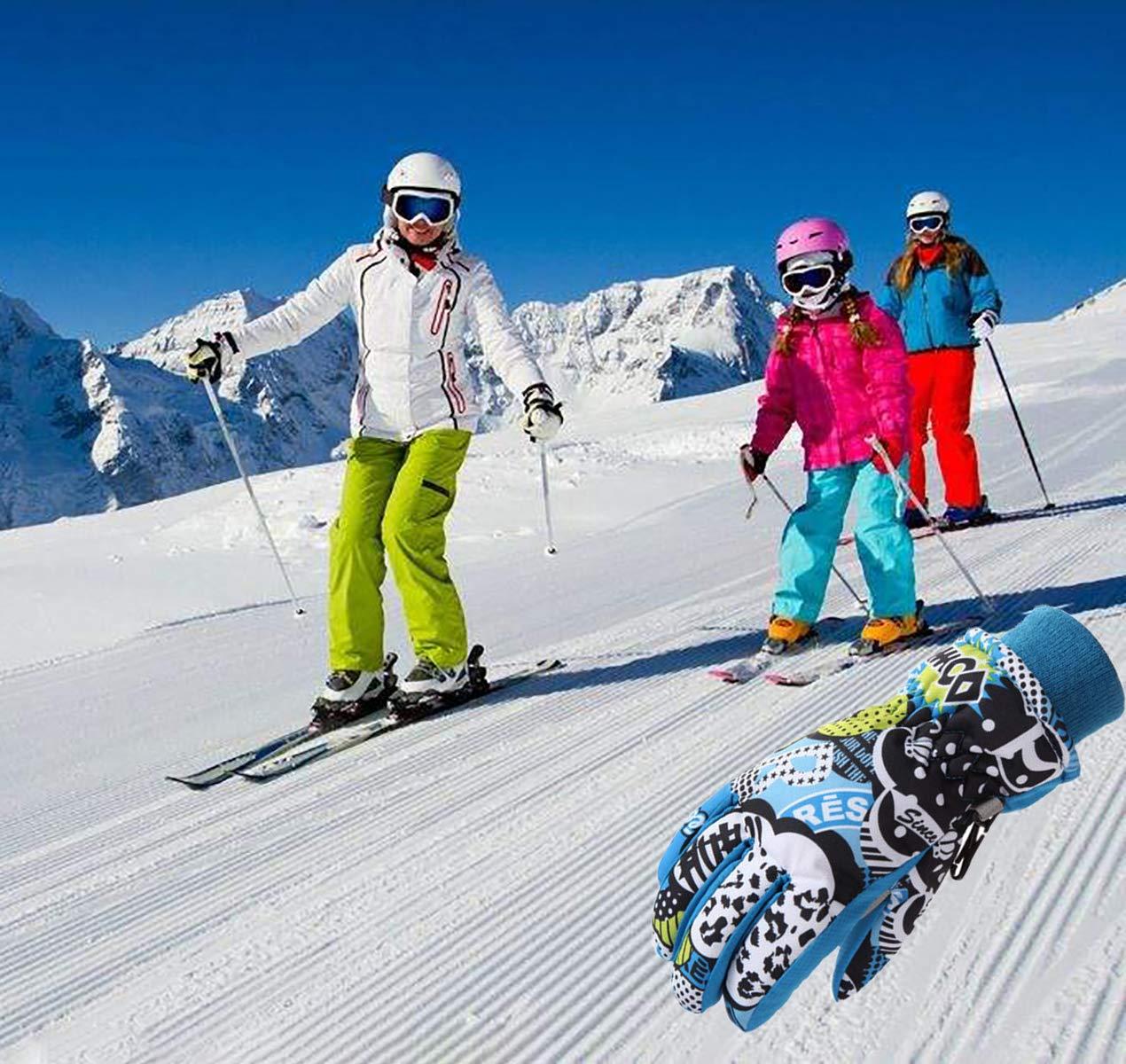 LAMEET Guanti da Sci per Bambini Colore E Taglia a Scelta Guanti da Sci Invernali per Bambini Ragazzi Ragazze 100/% Impermeabile Caldo Sport allAria Aperta Sci Ciclismo Snowboard