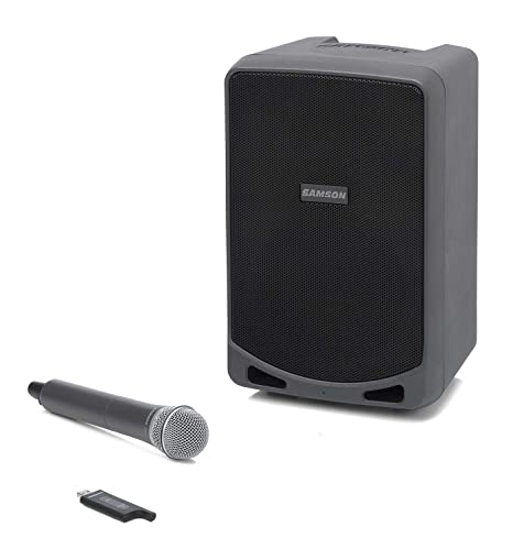 Samson Expedition XP106W Rechargeable Portable PA System with Wireless  Handheld Microphone and Bluetooth Streaming Audio