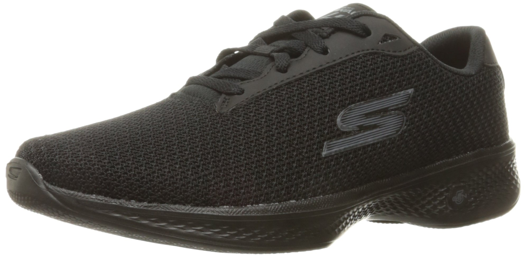 Skechers Performance Women's Go Walk 4 Glorify Walking Shoe, Black, 8 M US