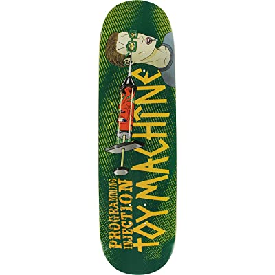 "Toy Machine Skateboards Programming Injection Skateboard Deck - 8.5"" x 32"" : Sports & Outdoors"