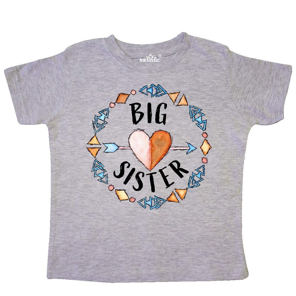Arrow inktastic Big Sister Circle Toddler T-Shirt Heart