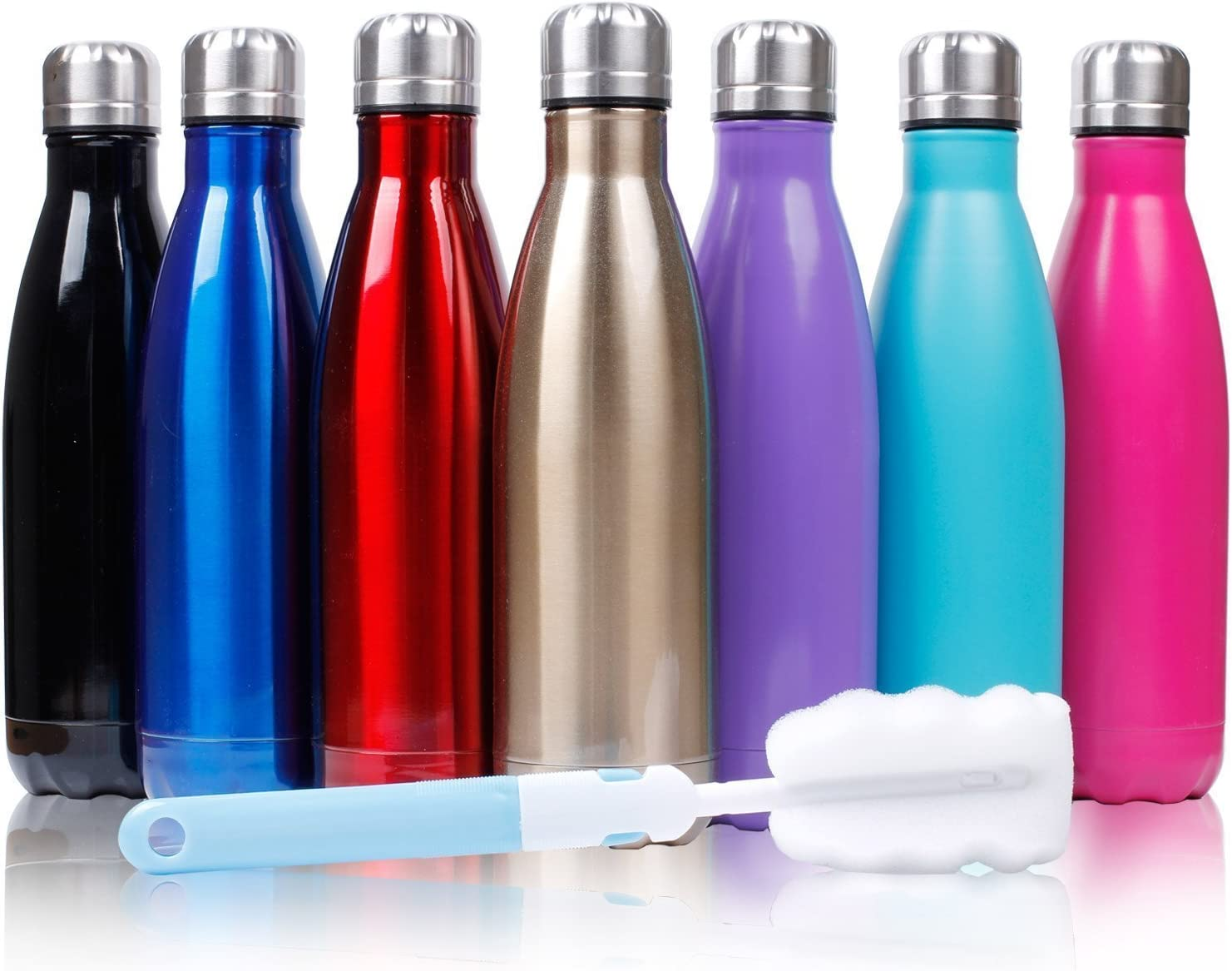 Sfee 17oz Double Wall Vacuum Insulated Stainless Steel Water Bottle