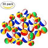 "Artempo 9"" Large Rainbow Beach Balls, Inflatable Party Balls for Summer, Beach, Party, Birthdays and Decoration (Pack of 30 Pool Balls)"