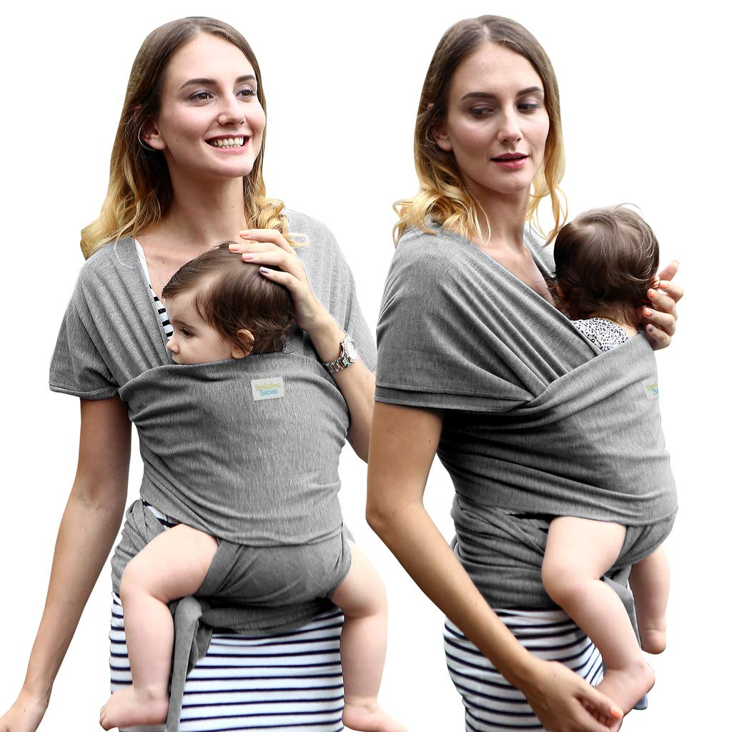 Baby Wrap Carrier - Bellissimo Babies – Bamboo - More Breathable & Softer Than Cotton - Perfect for Warm & Cool climates - Baby Sling Ideal for Newborn Baby.