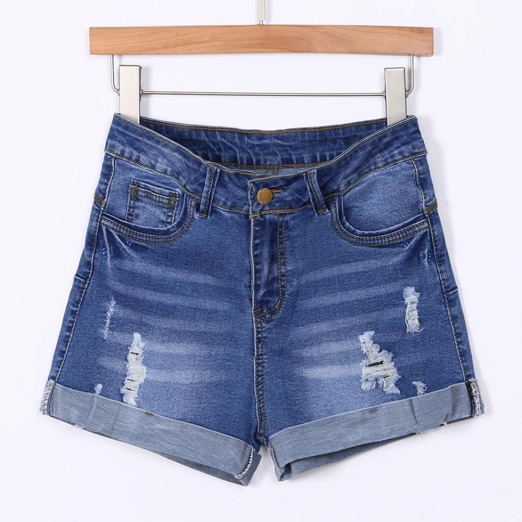 ae69e7e157783 Amazon.com: Women Low Waisted Jeans GoodLock Washed Ripped Hole Short Mini Jeans  Denim Pants Shorts: Clothing