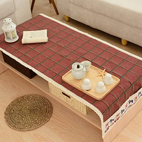 Captivating Rural Washable Tea Table Covers Teapoy Decoration Cloth Coffee Table Cover  Tablecloth E 19.6x59inch