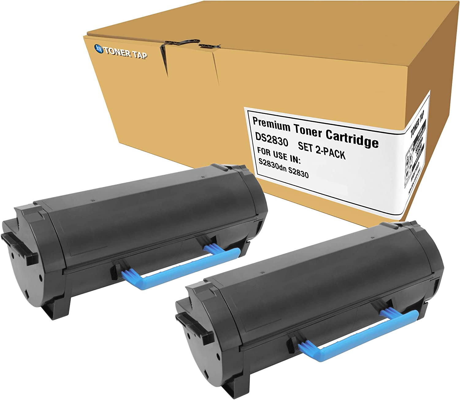 Toner Tap DS2830 for GGCTW 593-BBYP 3RDYK CH00D Compatible with Dell S2830dn S2830 (High Yield, 2-Pack Bundle)