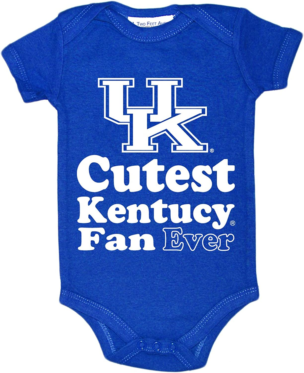 Two Feet Ahead NCAA Kentucky Wildcats Children Unisex Lap Shoulder Creeper,Nb,Royal