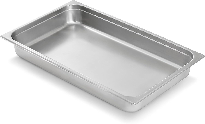 Artisan Stainless Steel Steam Table Chafer Pan, Full-Size, 8-Quart Capacity