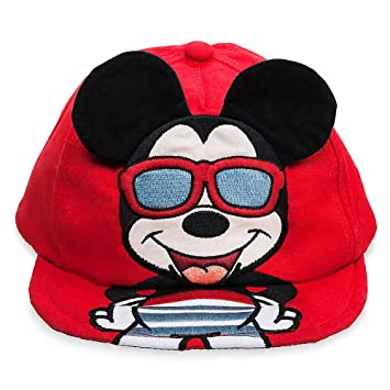 49758331a Disney Mickey Mouse Baseball Swim Cap for Baby Size 12-18 MO Red