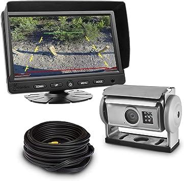 Carmedien Shutter Kamera Video Rückfahrsystem Cm Skrfs2 12v 24v Rückfahrkamera Set Für Wohnmobil Lkw Auto