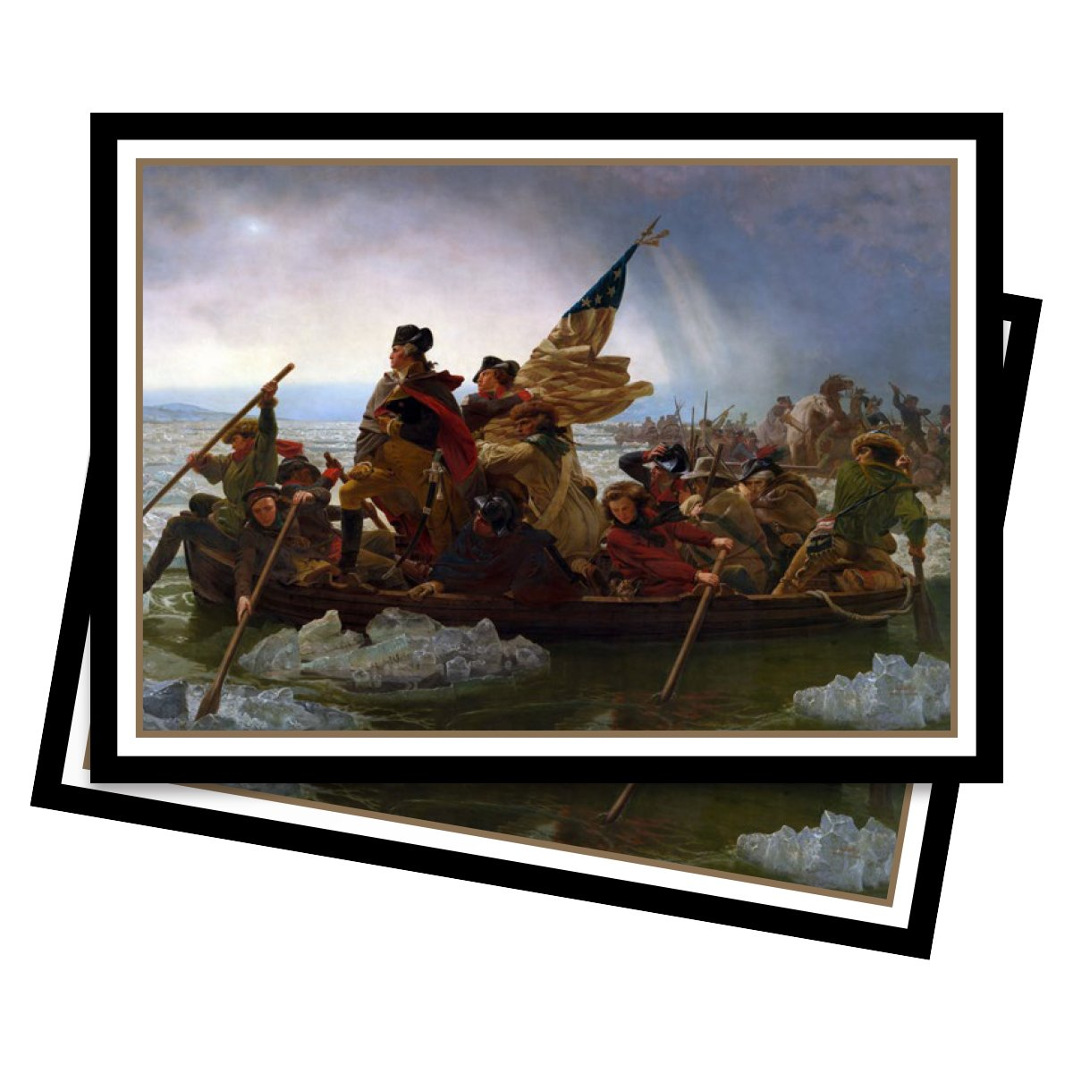 Fine Art Series Washington Crossing the Delaware Standard 65 count pack Magic Ultra PRO 88-85630 Deck Protector sleeves