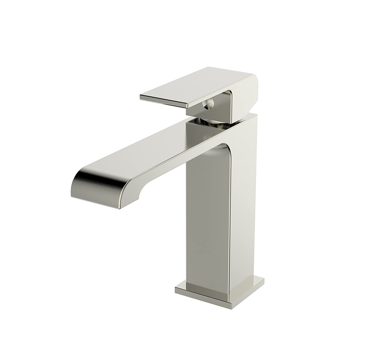 Amazon.com: Ucore Single Handle Bathroom Faucet, Brushed Nickel ...