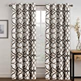 H.VERSAILTEX Thermal Insulated Blackout Grommet Curtain Drapes for Living Room-52 inch Width by 84 inch Length-Set of 2 Panel