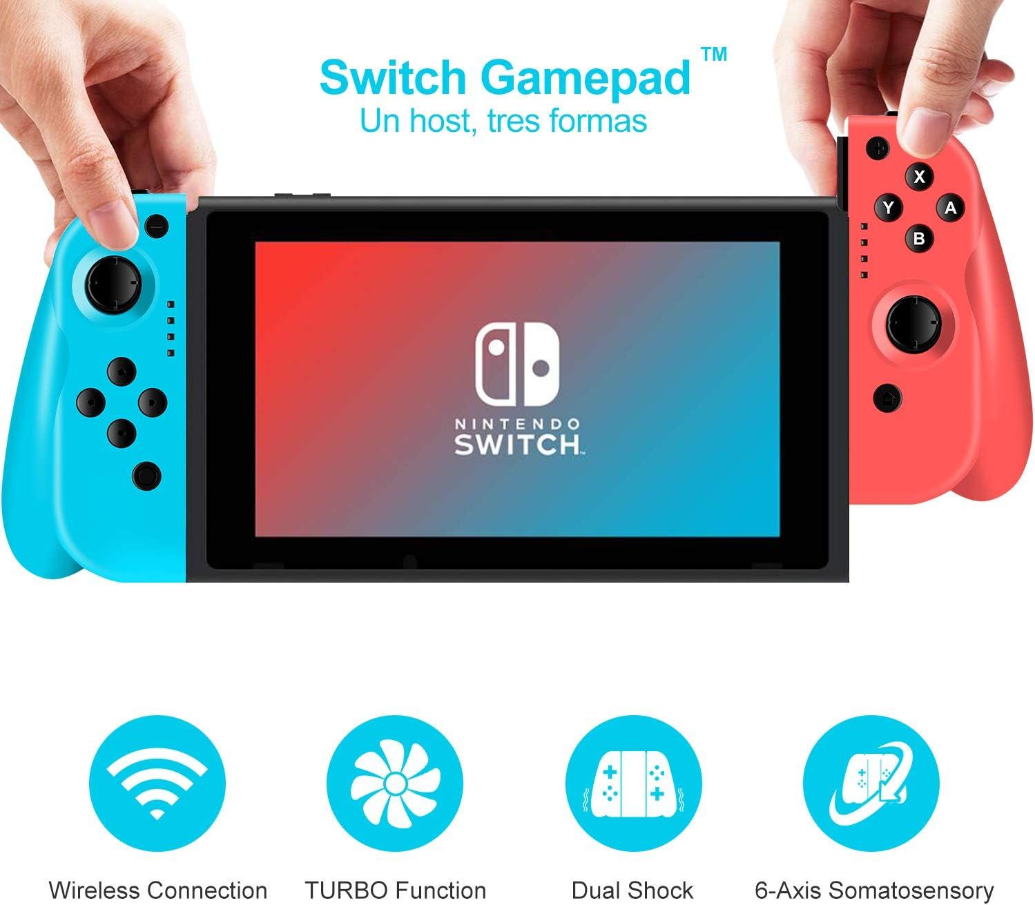 ODLICNO Mando para Nintendo Switch,Bluetooth Wireless Controller ...