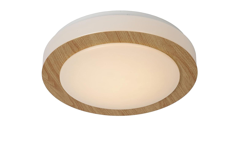 Lucide DIMY - Deckenleuchte Badezimmer - Ø 28, 6 cm - LED Dim. - 1x12W 3000K - IP21 - Helles Holz [Energieklasse A+] 79179/12/72