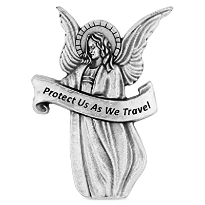 Traditional Catholic Visor Clip for Protection While Driving (Guardian Angel): Automotive