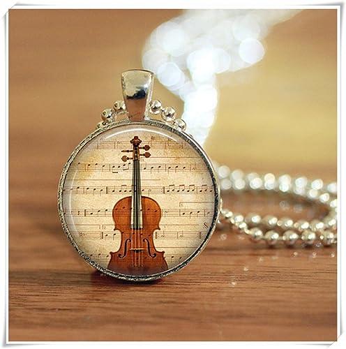 Amazon.com: Mágico imán violín partituras colgante llavero ...