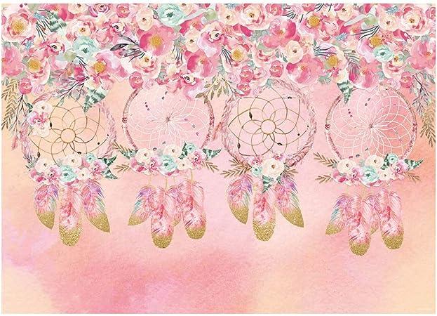 Dreamcatcher Background 10x7ft Wedding Vinyl Photography Background Wooden Ring Beads Sweet Dream Good Night Mysterious Indian Hand Made Birthday Kids Photo Prop Studio Wallpaper Decor