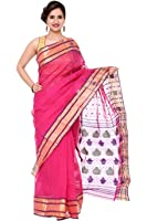 Khadi Cotton Silk Saree SB00003 (DESIGNER-DOLLZ) B682005 Pink & Golden Color