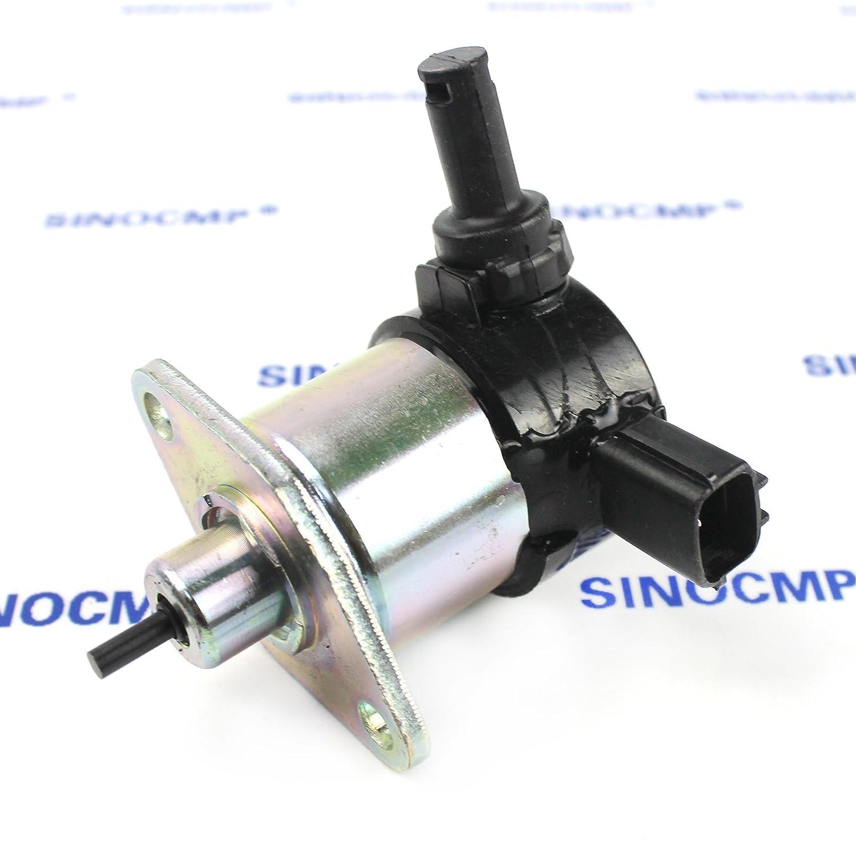 17208-60010 17208-60015 12V Stop Solenoid 3 Month Warranty SINOCMP CP-U0315 Fuel Shut Off Valve For Kubota D905 D1005 D1105 V1205 V1305 V1505 Fuel Solenoid