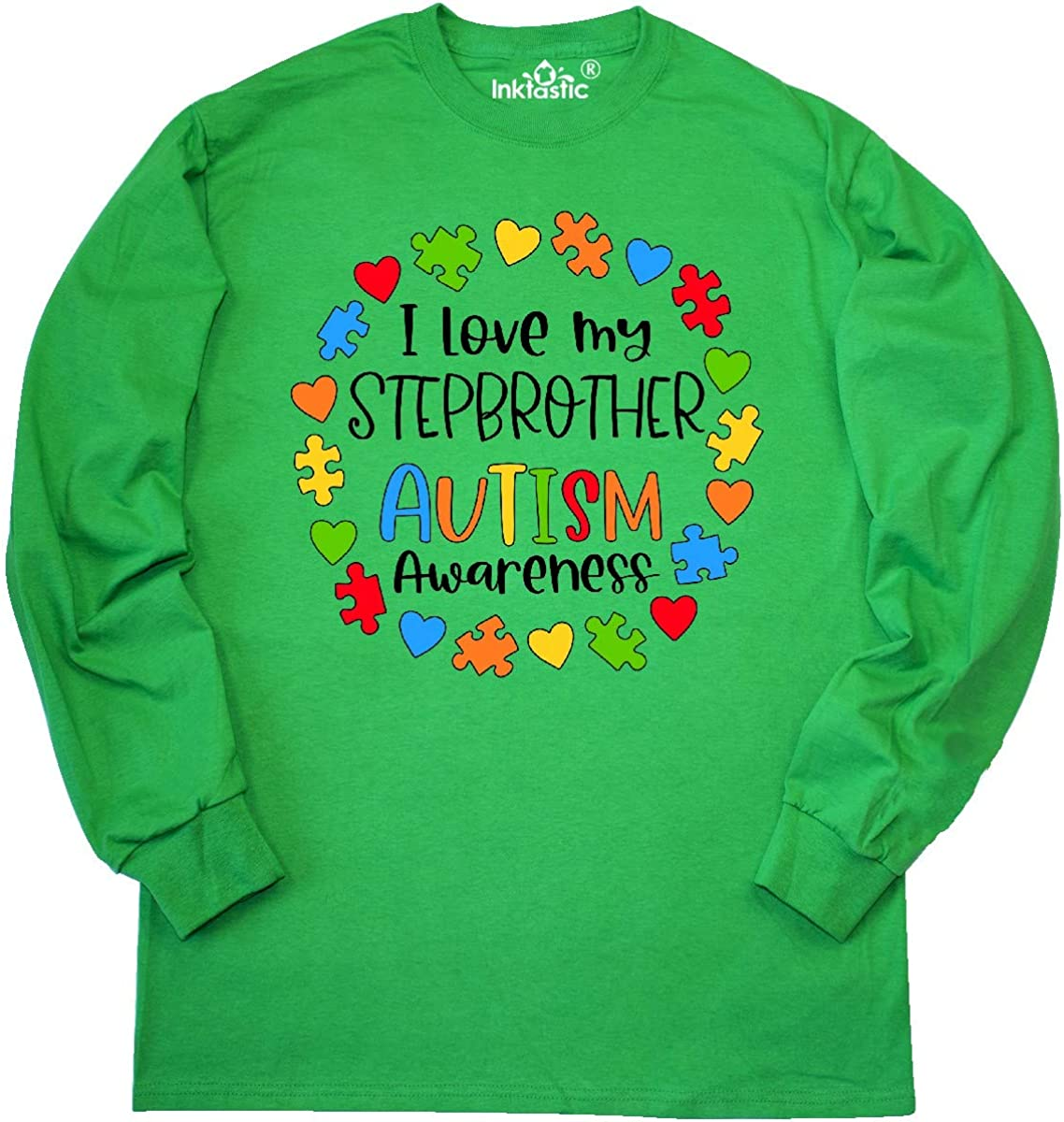 inktastic I Love My Stepbrother Autism Awareness Long Sleeve Creeper