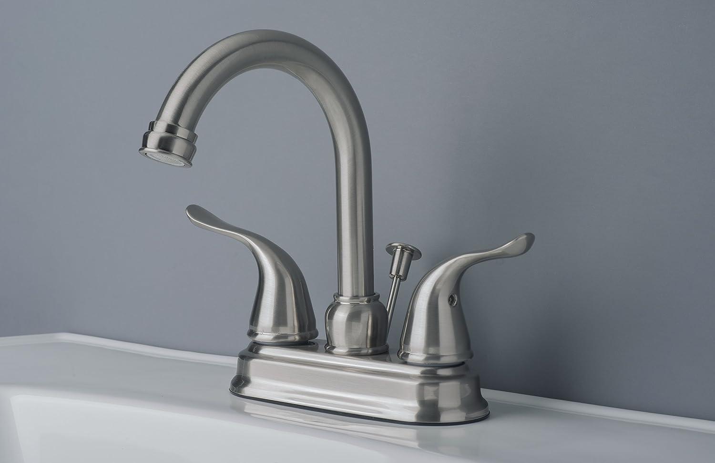 Builders Shoppe 2020BN Two Handle Centerset Lavatory Faucet with Pop ...