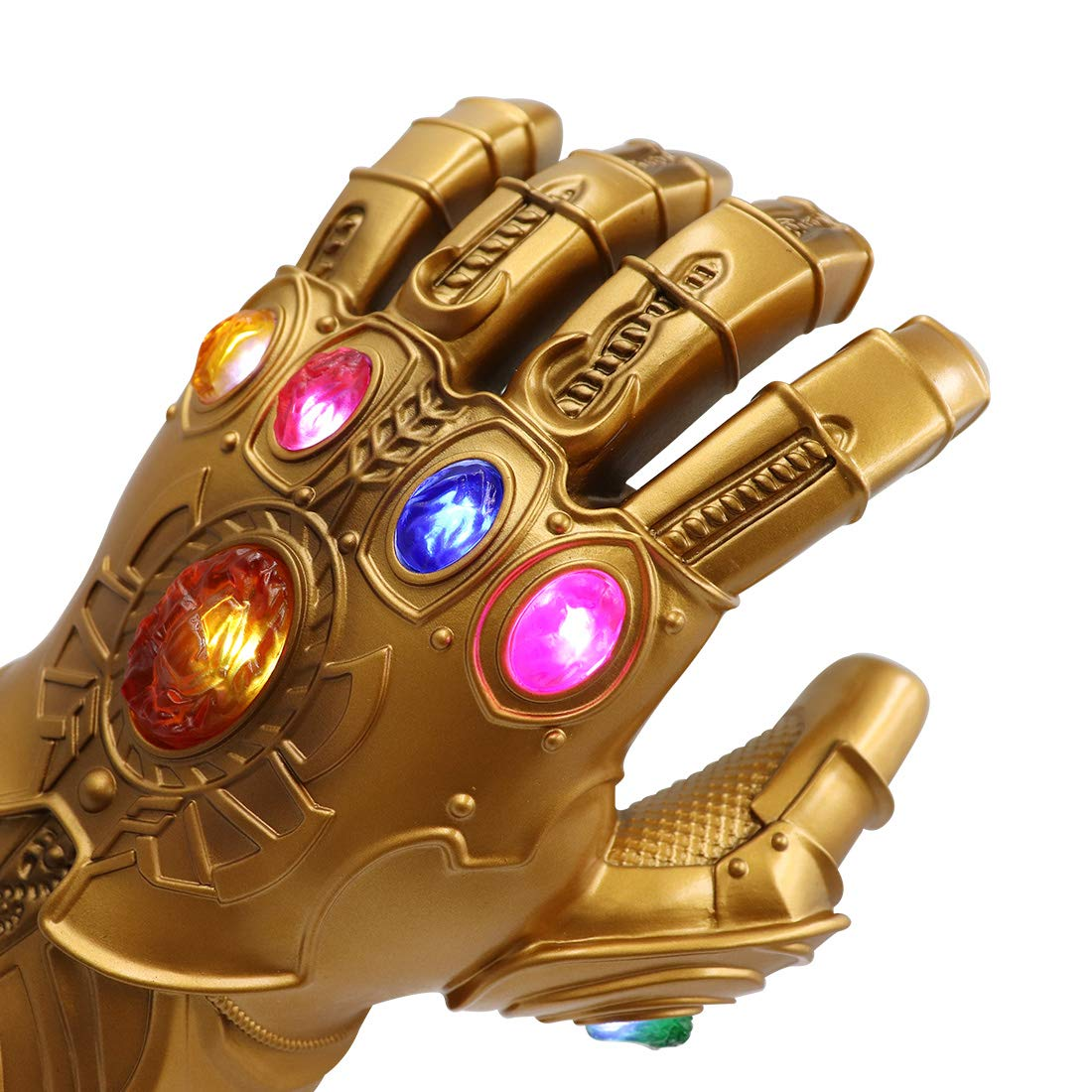 Bulex New Version Infinity Gauntlet LED Light PVC Thanos Gloves for Halloween Props (LED Gems Separable, Adult) by Bulex (Image #3)
