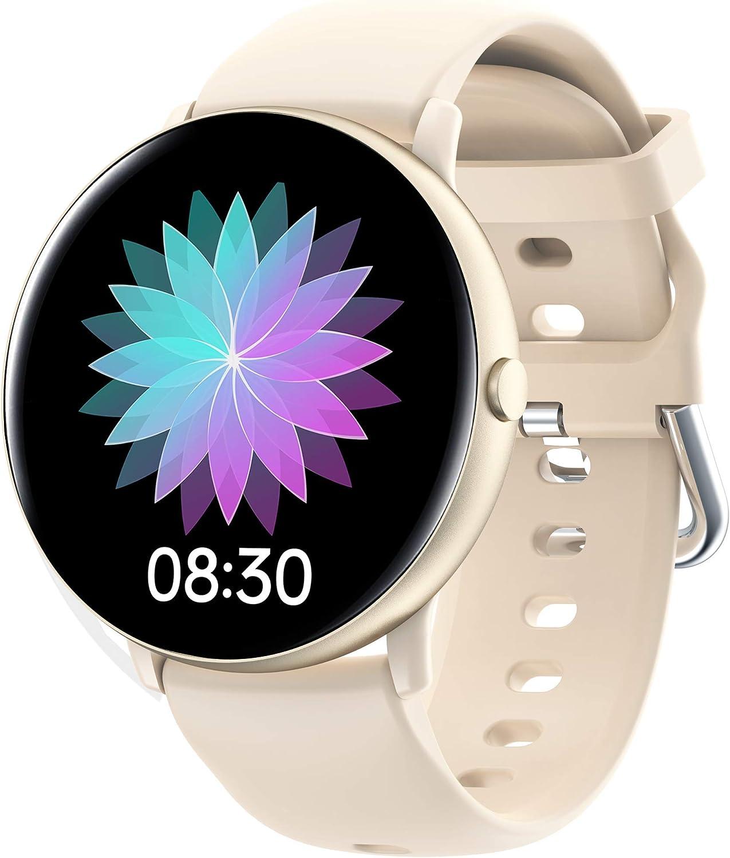 JINPXI Smartwatch,Reloj Inteligente para Mujer con Termómetro,Recordatorio del Ciclo Fisiologico,Monitor de Frecuencia Cardíaca,Pulsómetro,8 Mode Deporte,Pulsera Actividad Inteligente para Android iOS