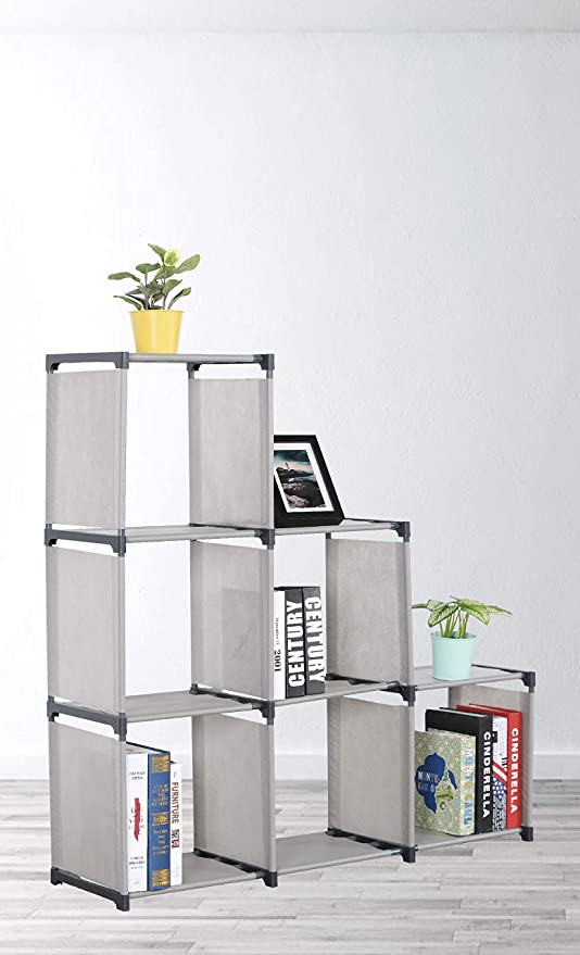 Superbe EHomeProducts Grey Storage Cube Closet Organizer Shelf 6 Cube Cabinet  Bookcase By