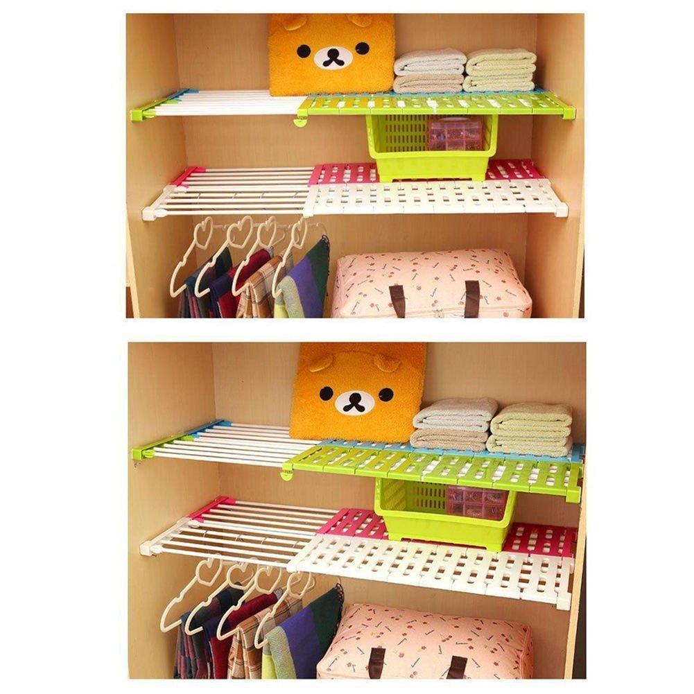 ajustable armario y estanter/ía que se extiende pl/ástico abs Estante de almacenamiento para cocina PDFans Random 30-40CM